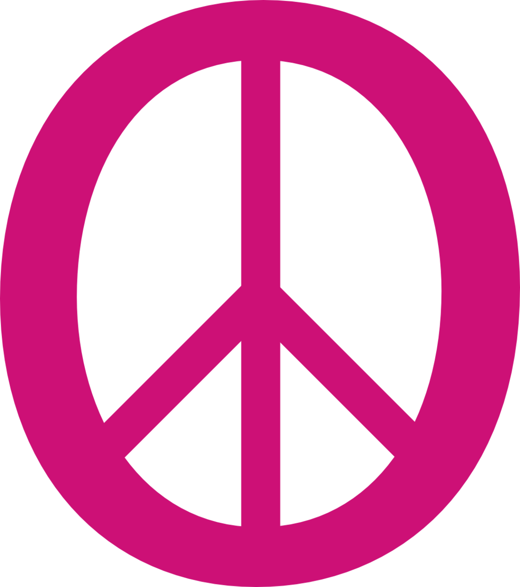Deep Pink 3 Peace Symbol 11 Dweeb Peacesymbolorg Clipart.