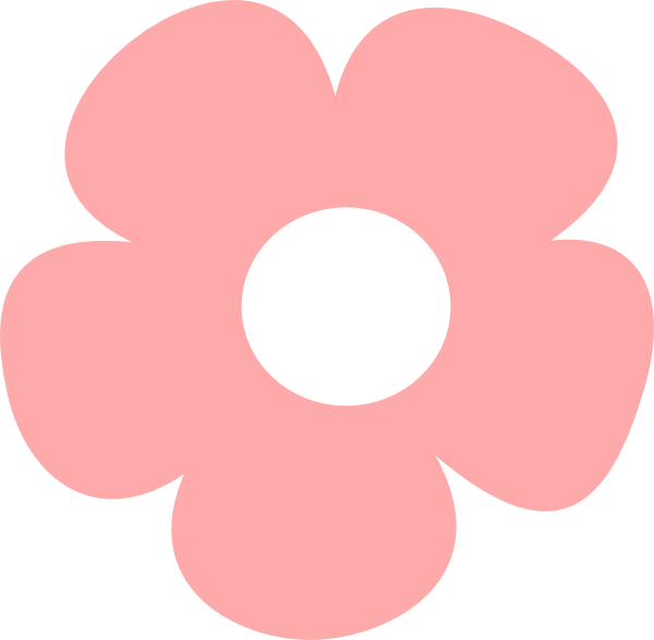 Pink rose outline clipart.