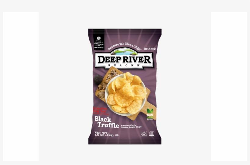 Deep River Snacks Black Truffle Kettle Chips.