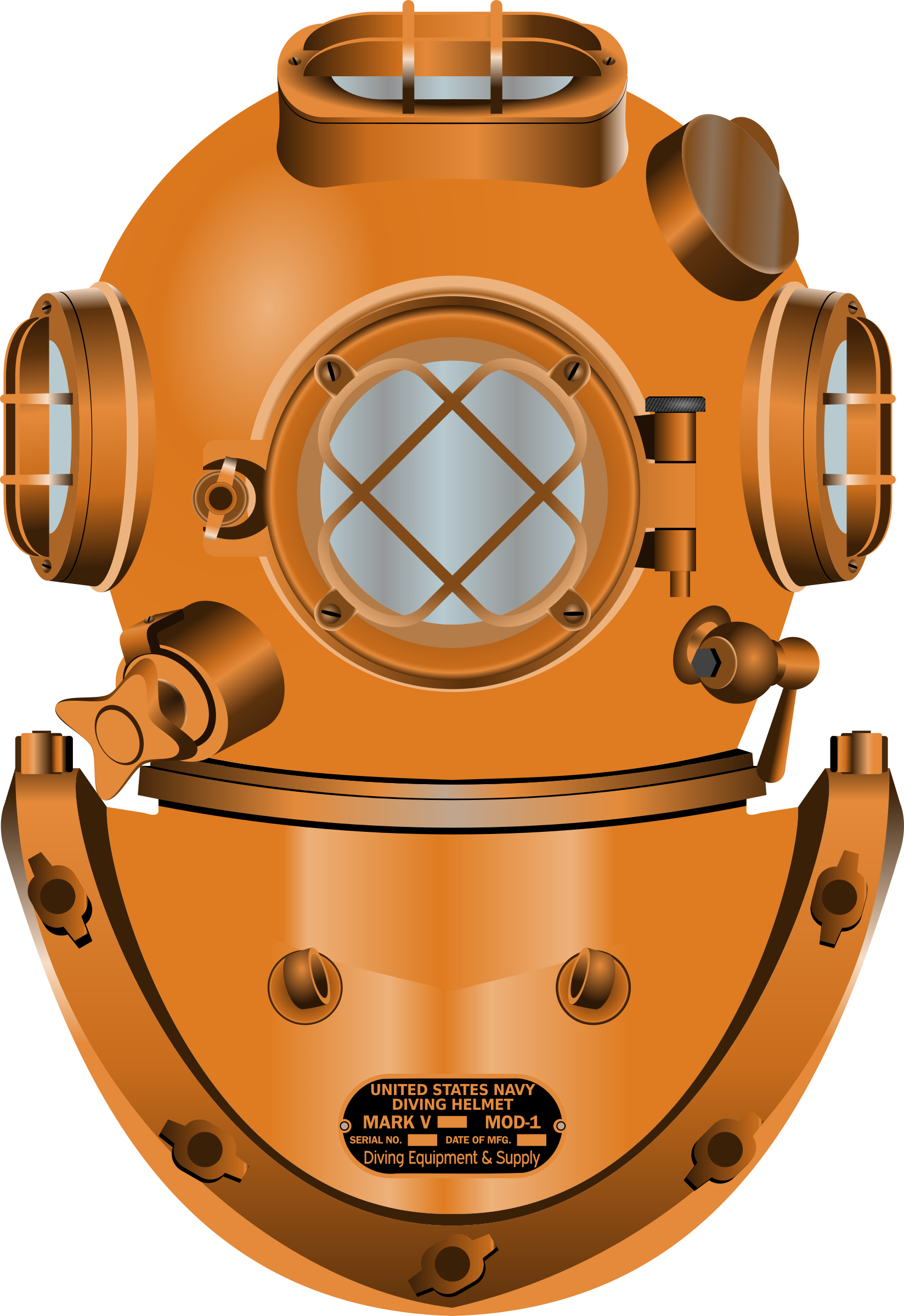 Diving Helmet Clipart.
