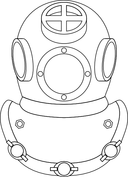 Deep Sea Diver Clip Art.