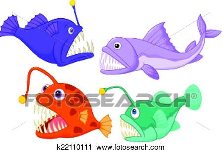 Deep sea fish Clipart.