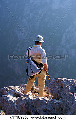 Stock Images of lebanon, standing, cliff, deep u17189356.