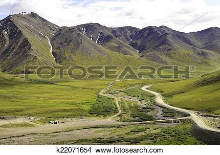 Stock Photo of Deep valley pipeline k22071654.