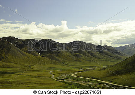Stock Images of Deep valley view.