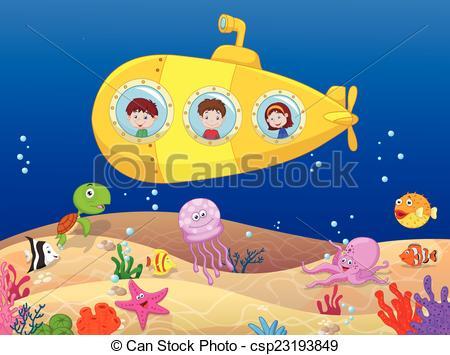Deep water sea fishing boat Clipart Vector Graphics. 116 Deep.