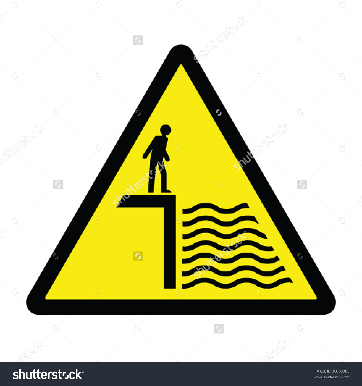 Deep Water Hazard Sign Stock Vector 30008383.