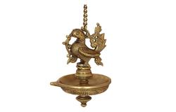 Peacock Karnataka Brass Hanging Deepa, JNS India.