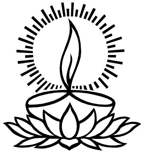 deepam clipart black and white in 2019.