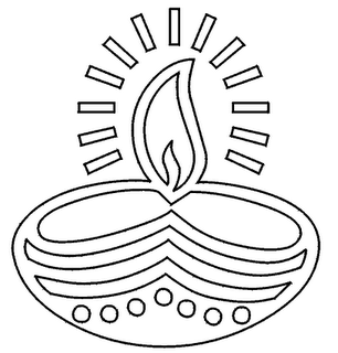 Deepam clipart black and white » Clipart Station.