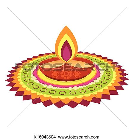 Clipart of Happy Diwali k15895534.