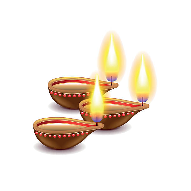Best Diwali Lamps Illustrations, Royalty.