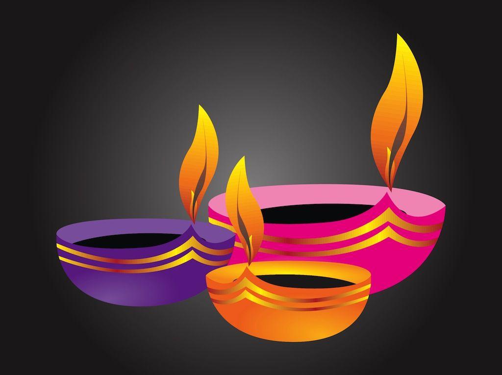 Diwali Lamp Clip Art.