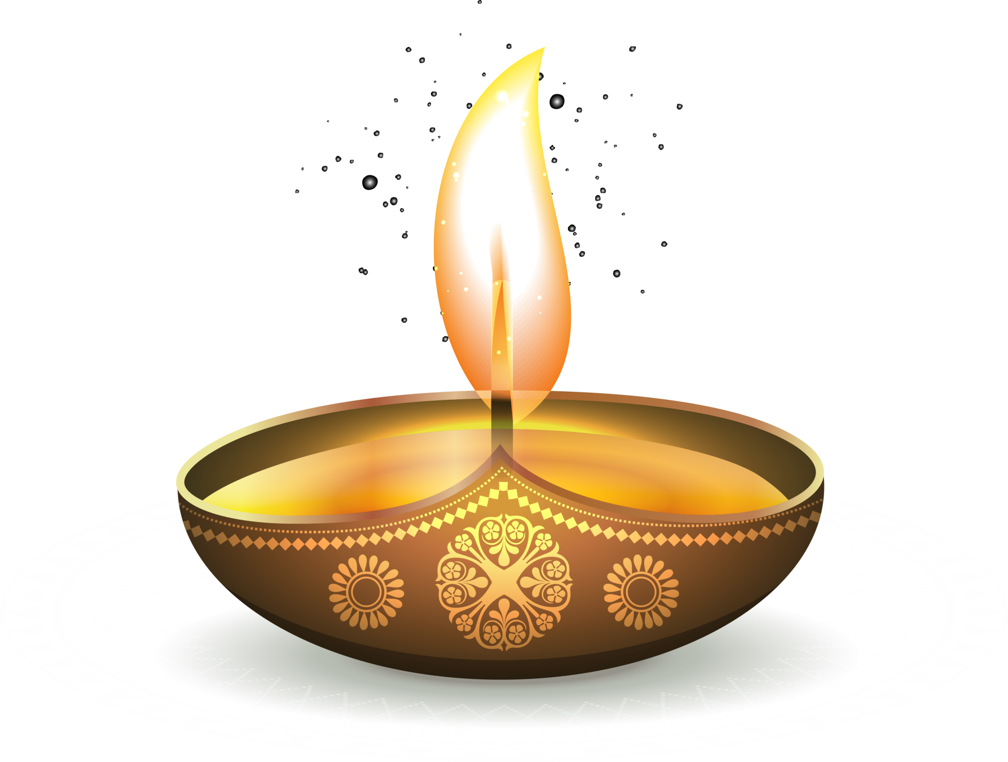 Download Golden Oil Ezhamkulam Light Diwali Lamp Shining Clipart PNG.