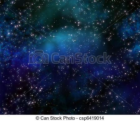 Drawing of deep space night sky.