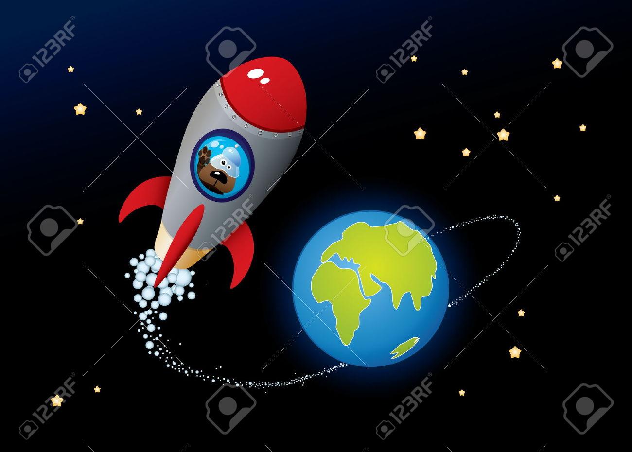 Deep Space. Vector Cartoon Image. Royalty Free Cliparts, Vectors.