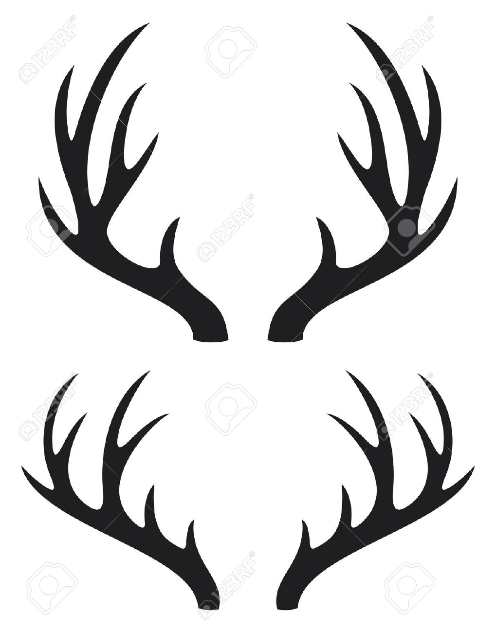 Antlered clipart #2