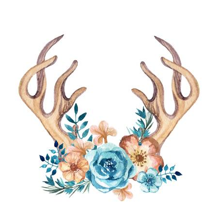 644 Floral Antlers Stock Illustrations, Cliparts And Royalty Free.