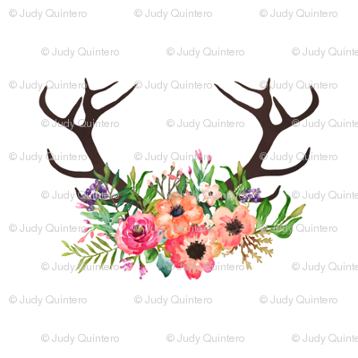 Deer Antlers With Flowers] Best 25 Deer Antler Tattoos Ideas On.