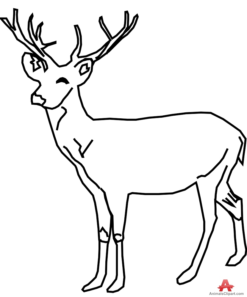 Deer clipart black and white 5 » Clipart Station.