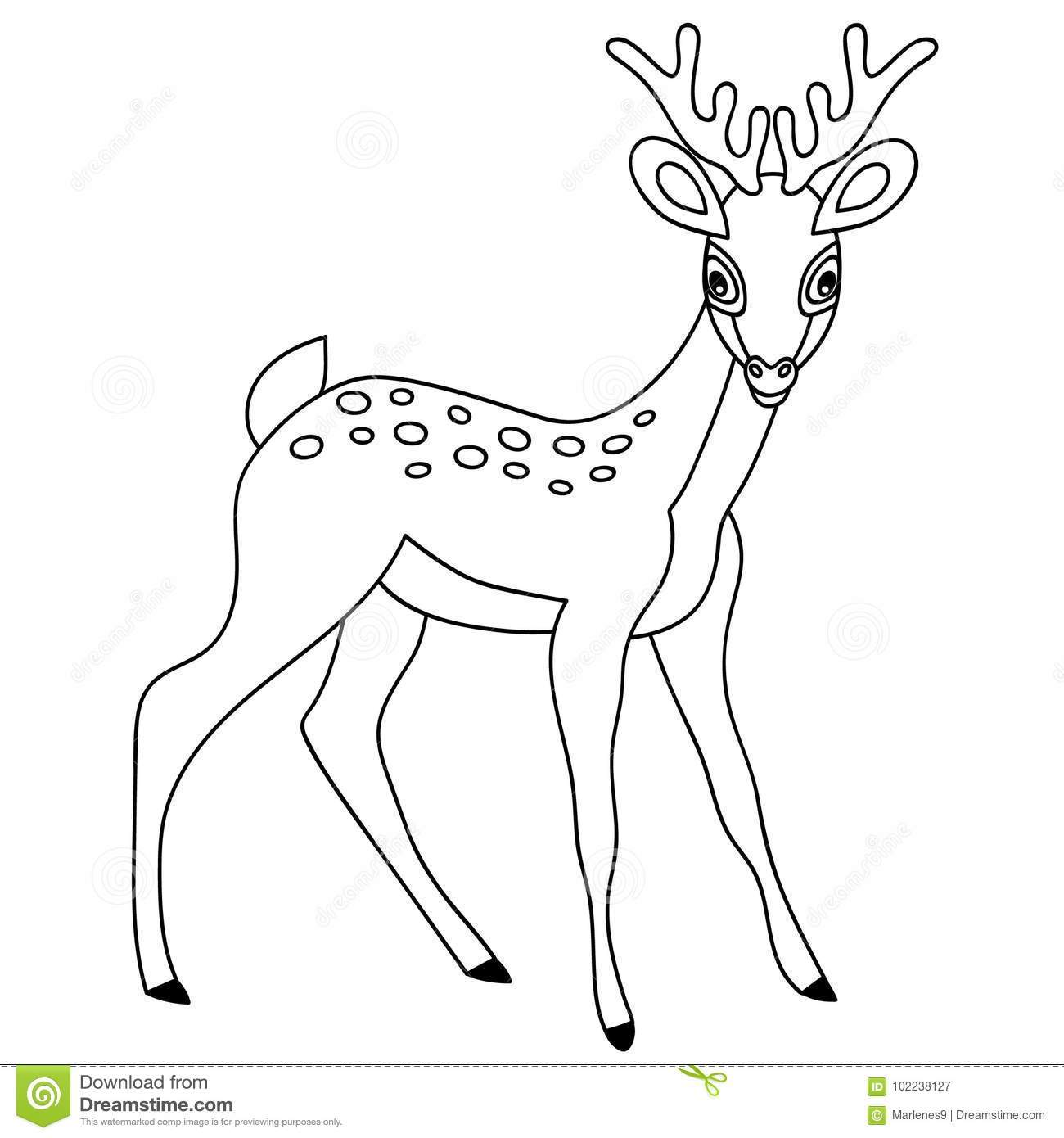 Deer black and white clipart 6 » Clipart Portal.