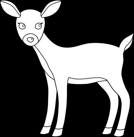 Cute deer line art free clip art image 2 2.