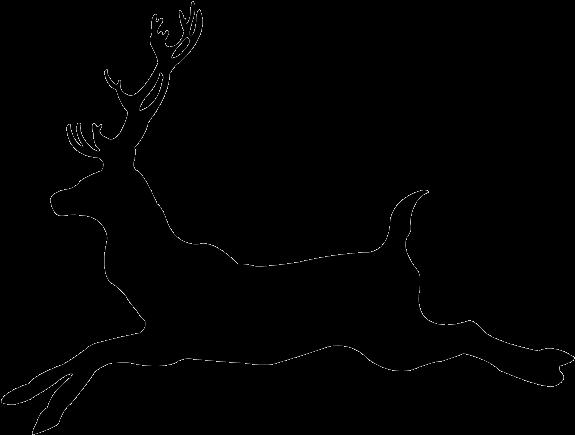 Deer Running Buck Clipart.