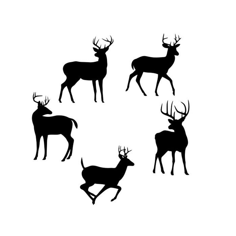 Deer Buck Clipart Silhouettes, eps dxf pdf png svg ai Files.