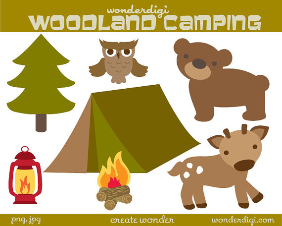 Camp clipart woodland, Camp woodland Transparent FREE for download.