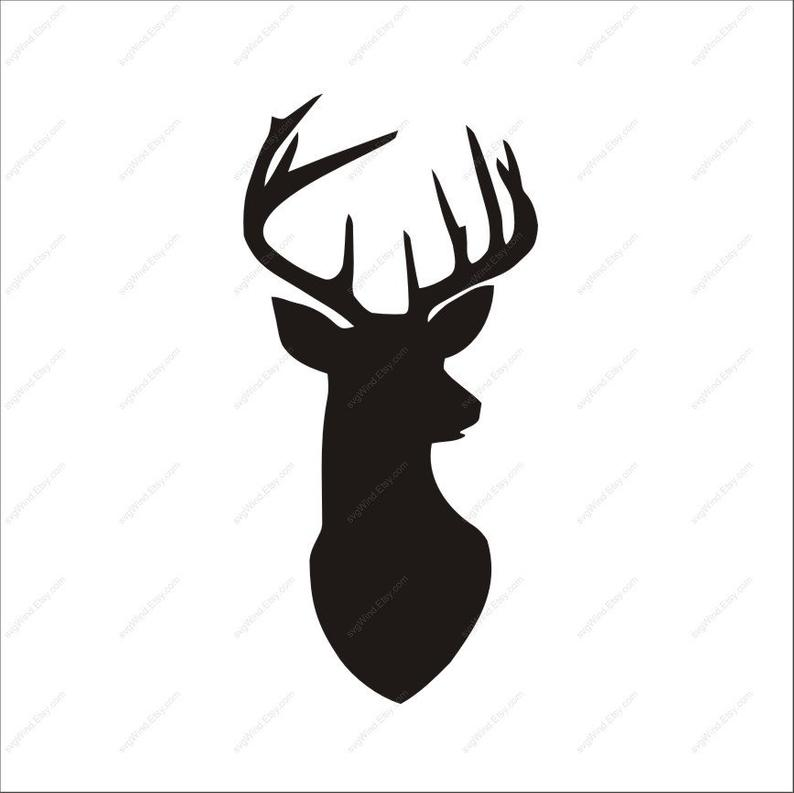 Deer Svg Deer Clipart AI dxf eps png Deer Head SVG Cut files Svg Files for  Silhouette Cameo or Cricut.