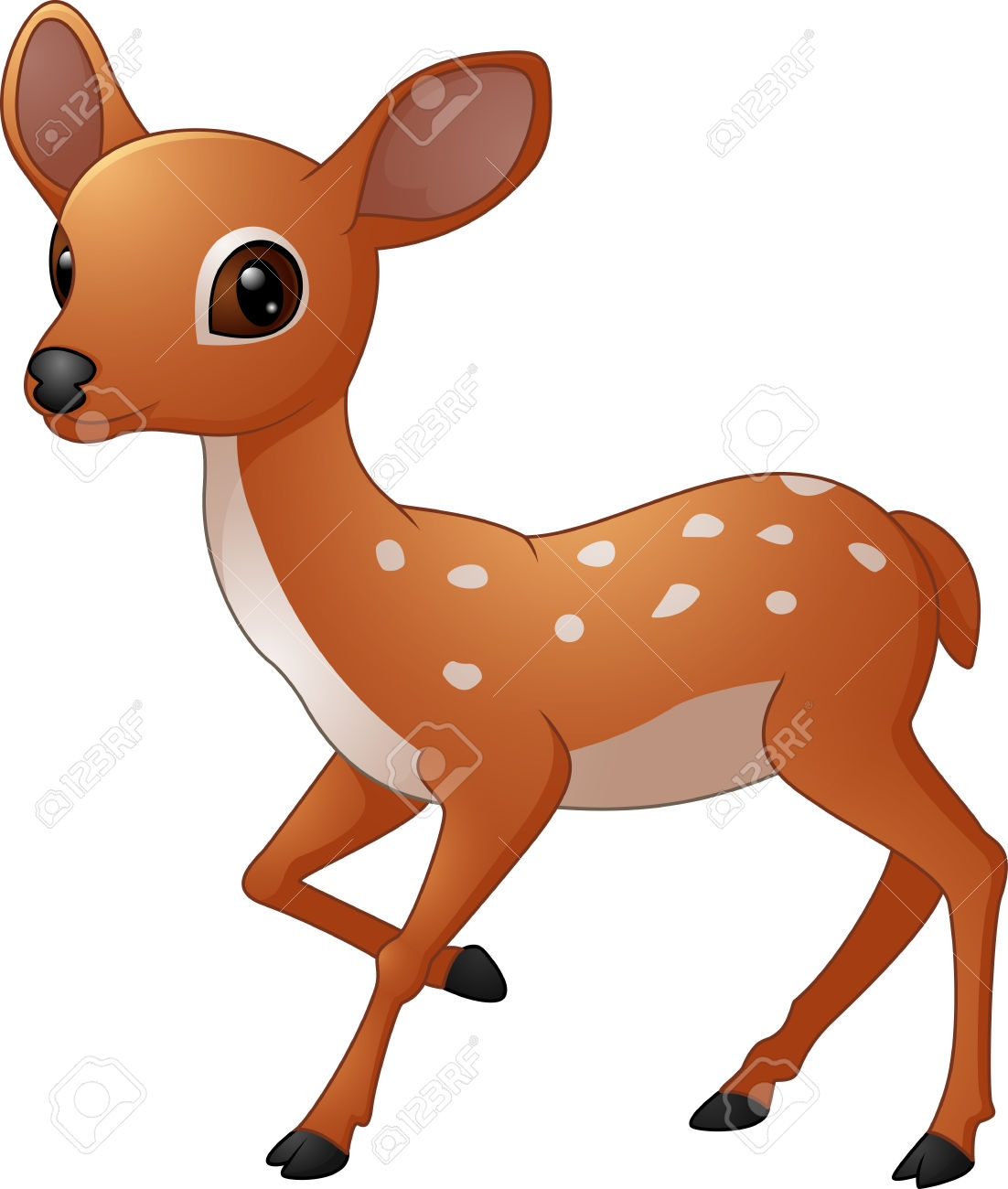 Mouse deer clipart.