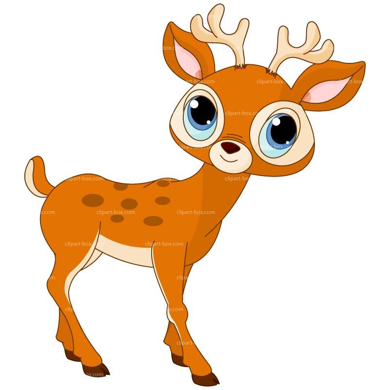 Cartoon Deer Clipart.