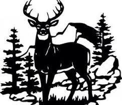Image result for black and white whitetail deer clipart.