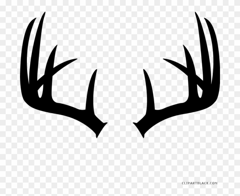 Deer Antlers Animal Free Black White Clipart Images.