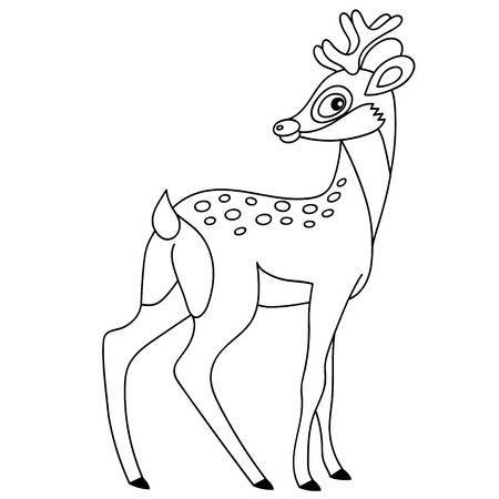Baby deer clipart black and white 3 » Clipart Portal.