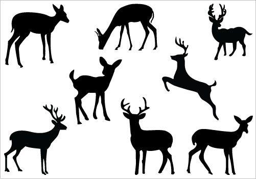 Deer Silhouette Clip Art Pack.