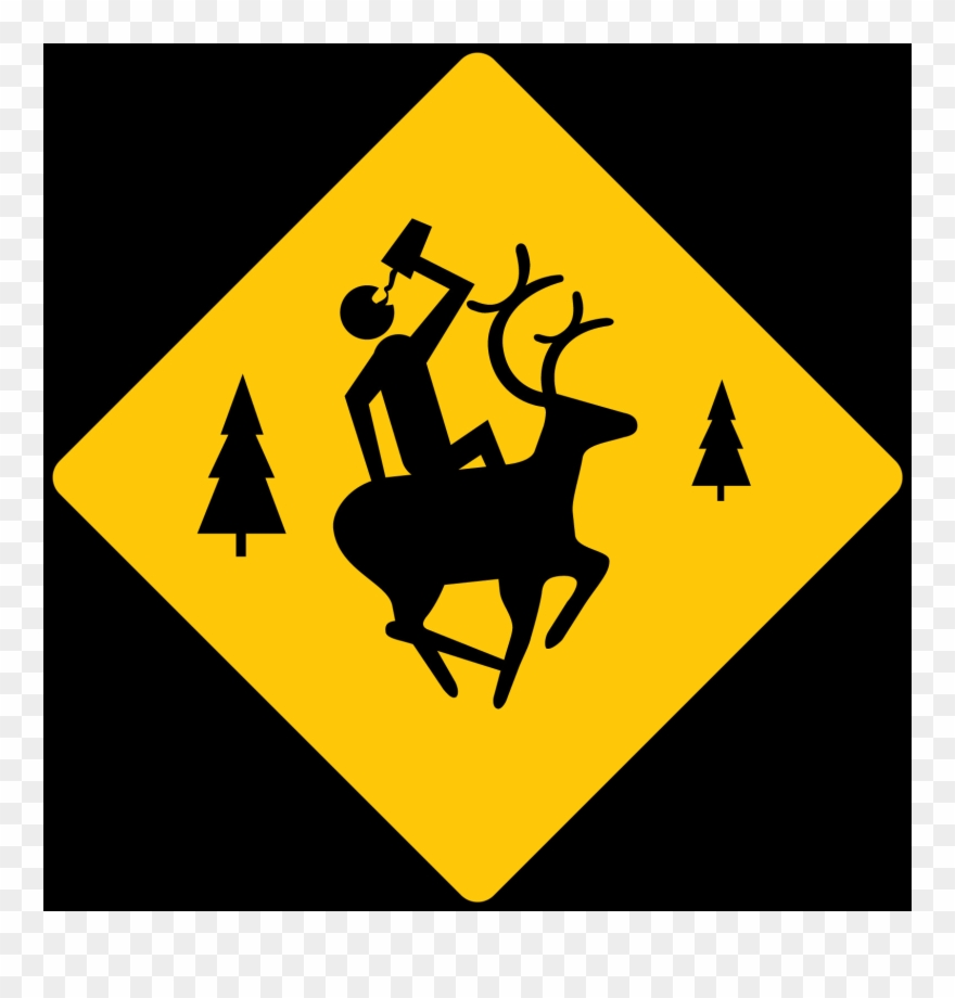 Deer Crossing Clipart (#3149470).