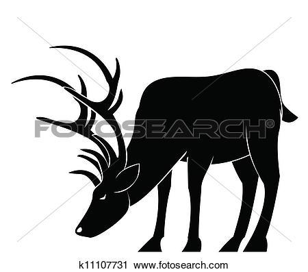 Clipart of deer drink k11107731.