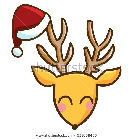 Deer face clipart 1 » Clipart Station.