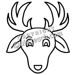 Deer Clipart Black And White.