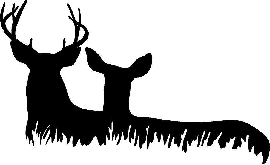 deer family head black and white clipart 20 free Cliparts ...