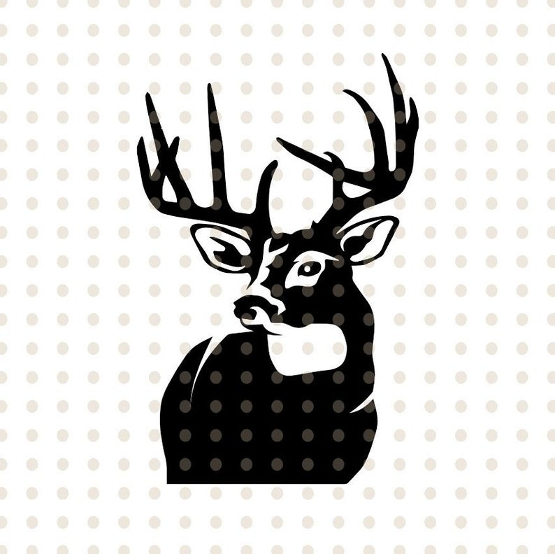Deer SVG File / Deer Head SVG / Deer Clipart / Deer Head Clipart / Deer  Vector / Hunting SVG Files / Svg Files for Cricut / Silhouette.