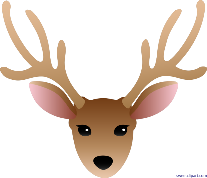Deer Head Male Clip Art.
