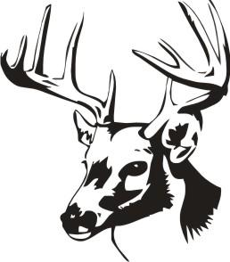 Tribal Deer Skull Clipart.