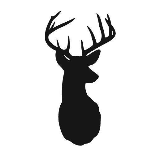 Deer Head Silhouette Clip Art.