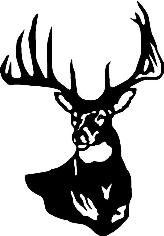 Whitetail deer head clipart.
