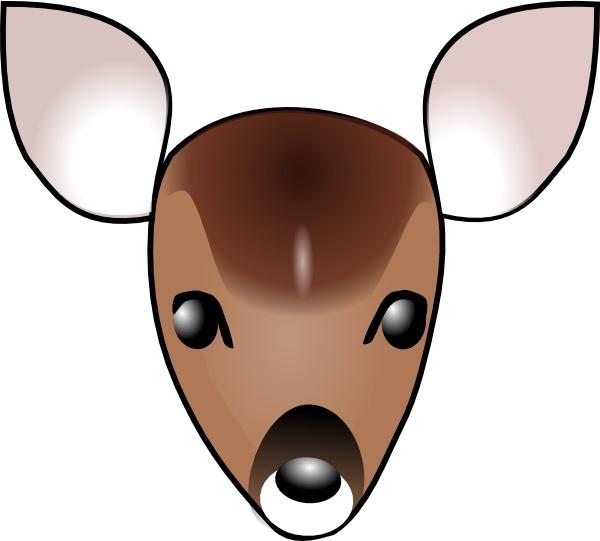Deer Head clip art Free vector in Open office drawing svg ( .svg.