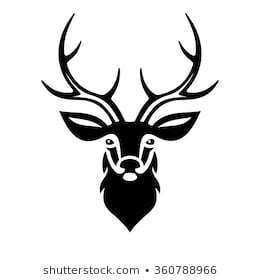 Deer head clipart black and white 1 » Clipart Portal.