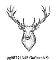 Deer Head Clip Art.