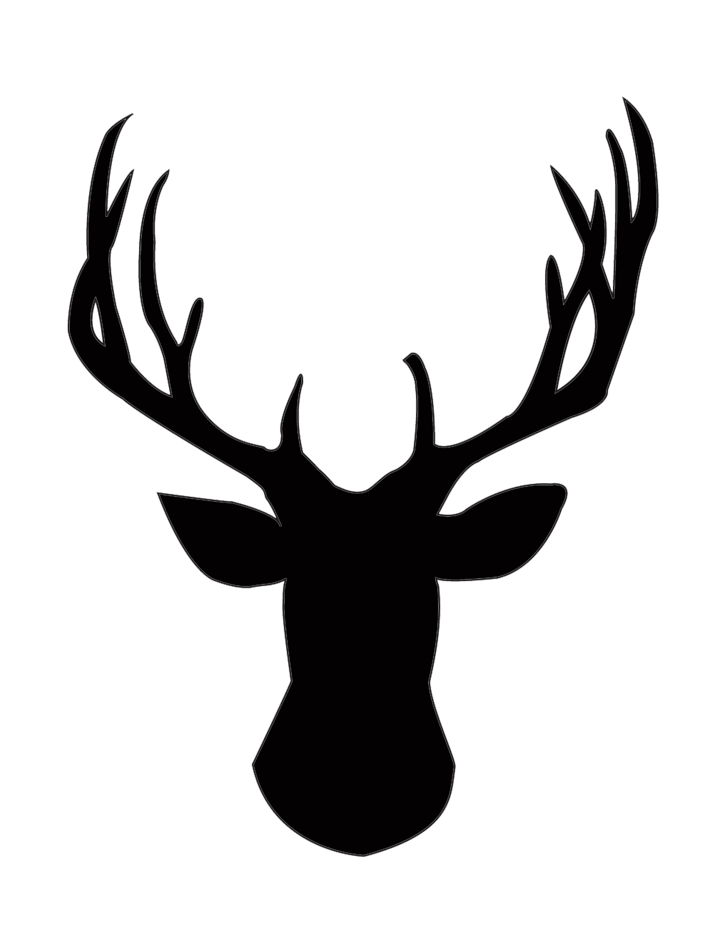 Deer Head Silhouette Free.